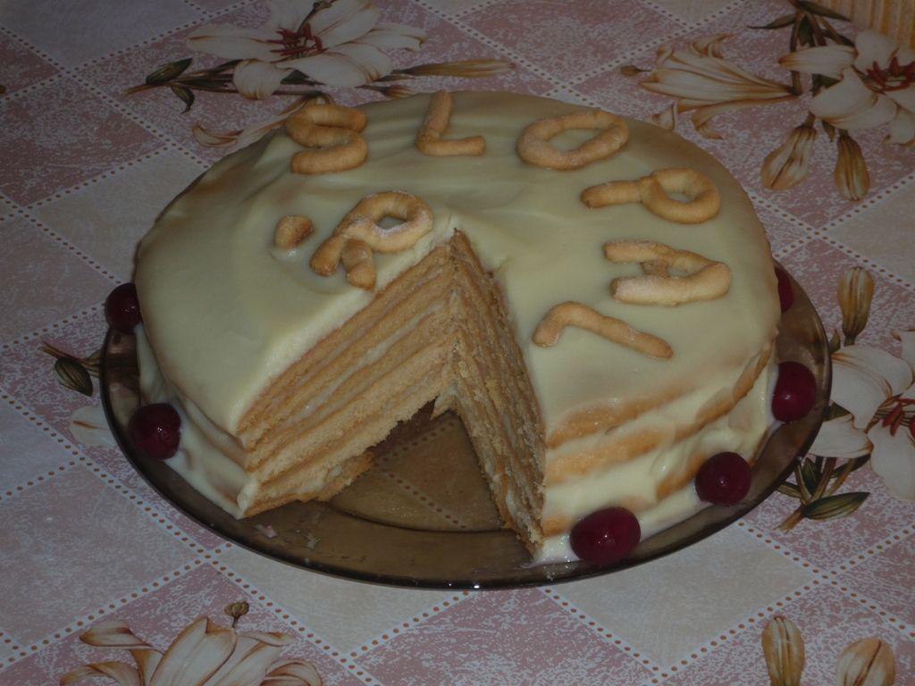 Готовый торт Рыжик с заварным кремом