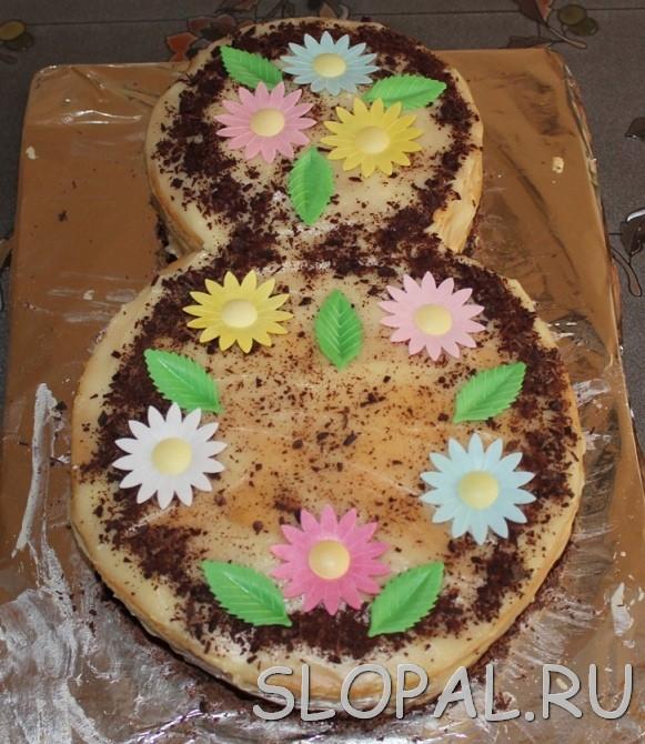 Готовый торт Рыжик с заварным кремом к 8 марта